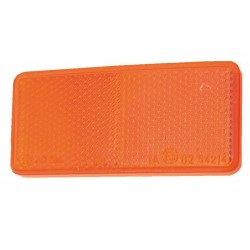 Catadioptre rectangle autocollant orange